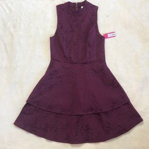NWT Tiered Target Dress Maroon with Detailing